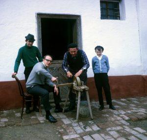 Manfried, Helmut, Johann and neighbor