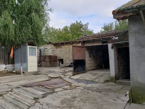 Back of Habermann home, once animal stalls