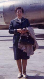 Hilda on first trip to Germany