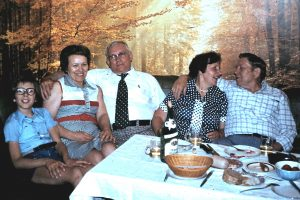 Oskar and Hilda visiting Raugust family
