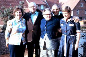 Hilda and Oskar visiting Hugo Habermann family