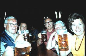 At beer tent in Barthelmesaurach