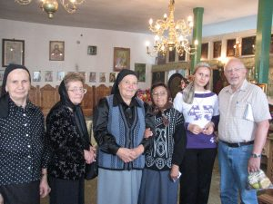 Inside church in Fachria