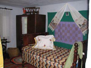 Typical bedroom in Ukrainian home