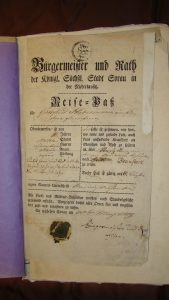 Passport for ancestor Gottfried Habermann to travel from Poland to Russia