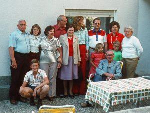 In front of Hannemann's in 1976
