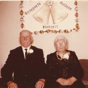 Golden Wedding of Georg and Mina