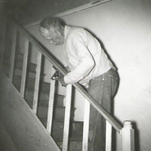 Georg making stair railing