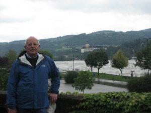 In Ybbs looking across Danube to Schloss Persenbeug