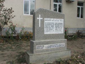 Sign in front of church in Fachria