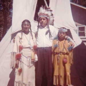 Dressing with the native Sioux