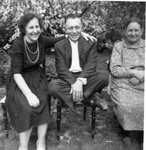 Hilde, brother Herbert, mother Rosina Martin