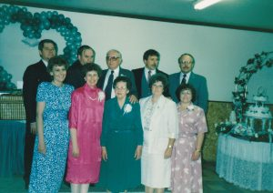 Family gathering at Becky's wedding