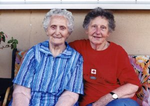 Erna wissinger and Hilda Habermann