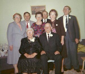 Relatives at Golden Wedding Celebration
